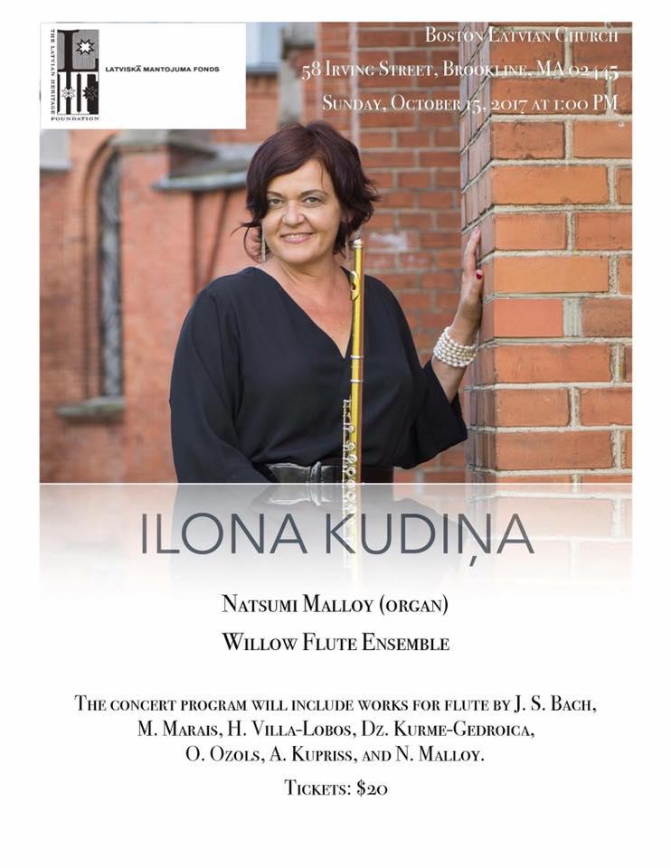 Flute music concert flute events boston latvian church 58 irving street brookline ma 02445 sunday october 15 2017 at 100 pm malvernweather Gallery